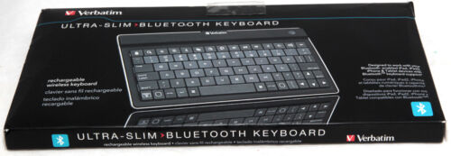 Verbatim Ultra Slim Wireless Bluetooth Keyboard 97753 For iPad iPhone Android