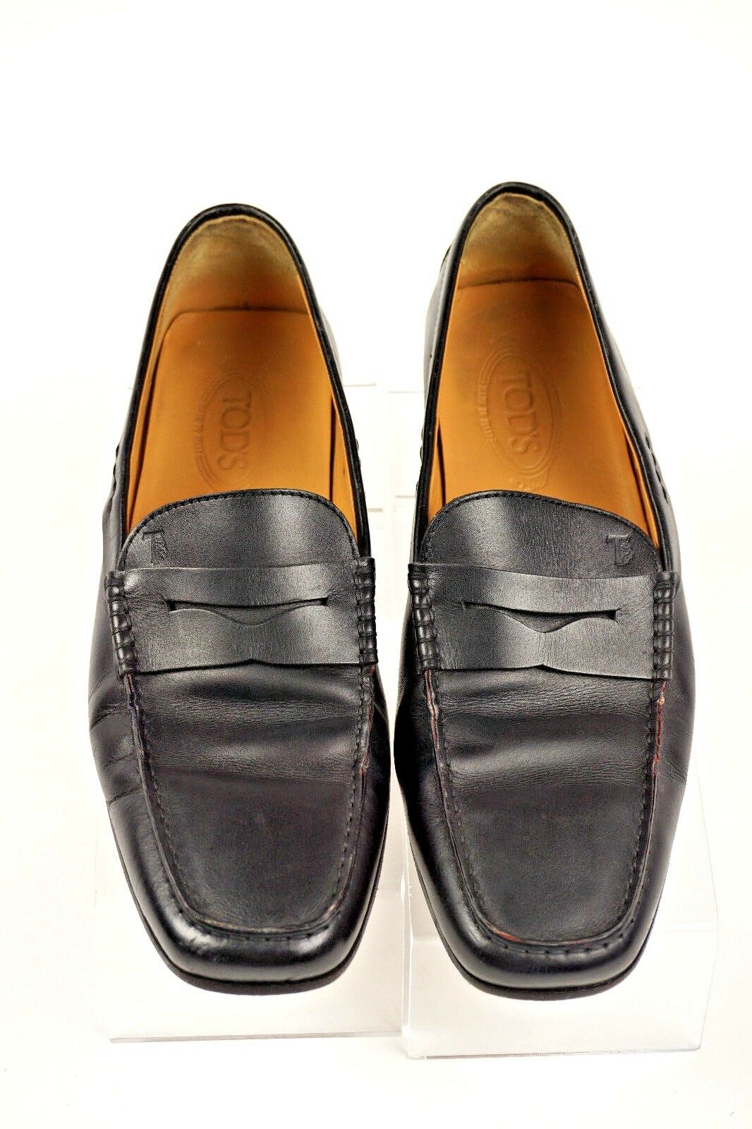 52c071ddf9b TOD S TOD S TOD S Mens Penny Loafer Black Leather Slip on 9 Made in Italy  469904