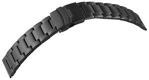Edelstahl-Gliederband-Uhrenband-Schwarz-22-Faltschliesse-Ersatzband-X8100092220
