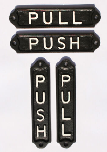 SOLID CAST METAL PUB RESTAURANT CAFE OLD VINTAGE STYLE PUSH /& PULL DOOR SIGNS