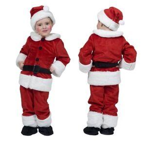Costume Babbo Natale bambino completo rosso con cappello cintura e ... 38a20991b137