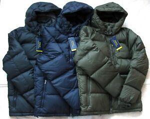 7e1818425 Details about NEW Polo Ralph Lauren Men Ripstop Water Repellent Down Jacket  Black Navy Loden
