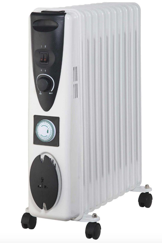2500 W Blanco Slimline de 11 Radiador Aletas De Radiador 11 Relleno De Aceite Termostato del Calentador Calentador 2.5 kW 908cd3