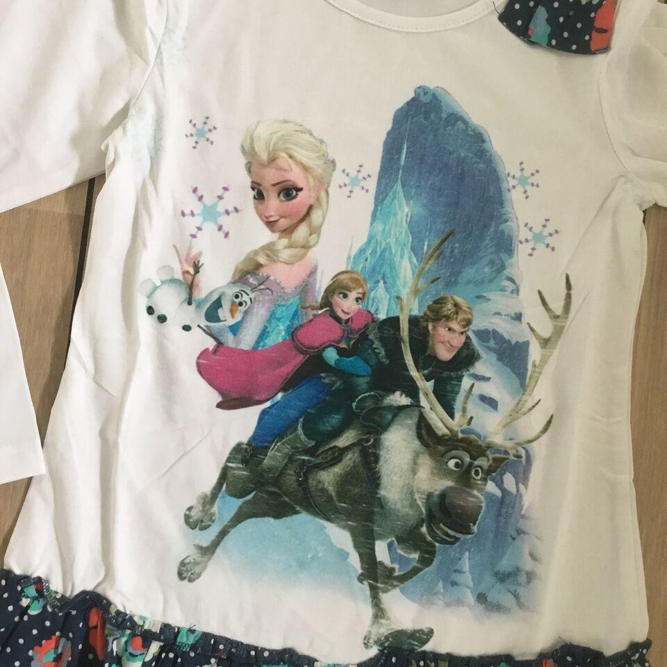 Kjole, Frost kjole / tunika str. 98 med Elsa og Anna , Frost