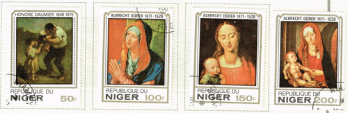Niger Art Durer Famous Paintings stamps 1979