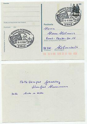 08568 - Sonderstempel Gedenkfeier Hausmann-woche - Hessisch Oldendorf, 10.9.1998