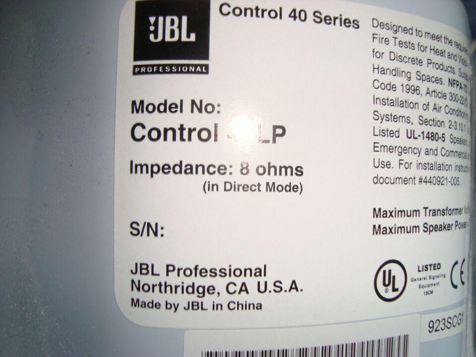 Højttaler, JBL, Control 47LP