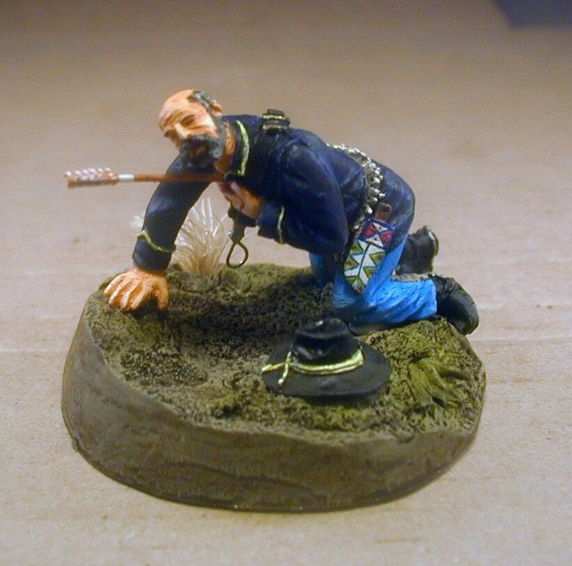 75mm Crawling Wounded Trooper 7th Cavalry Little Big Horn Pro Painted Custer