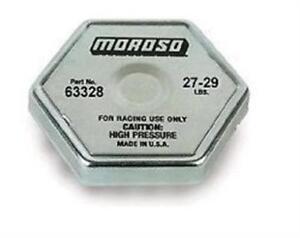 Moroso 63328 Radiator Cap Steel Moroso Logo Octagon 27 29