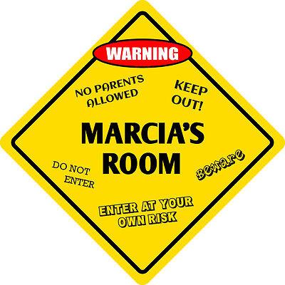 """Enthousiast *aluminum* Marcia's Room Kids Room Door 12""""x12"""" Metal Novelty Sign Geschikt Voor Mannen, Vrouwen En Kinderen"""