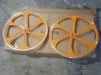 Motorized Bicycle 26 Wheels Set With Axles Set And 22t Free Wheel Include