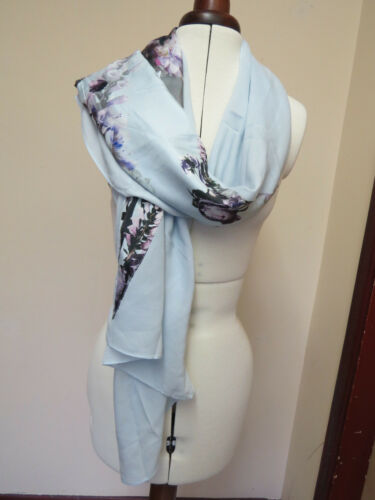Perfect! PRETTY! Ted Baker Torchlit Floral Split  Scarf  Green/blue
