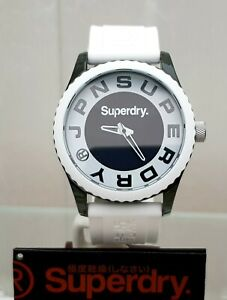 New-Mens-SUPERDRY-Watch-White-Silicone-strap-Big-face-RRP-89-GENUINE-SD17