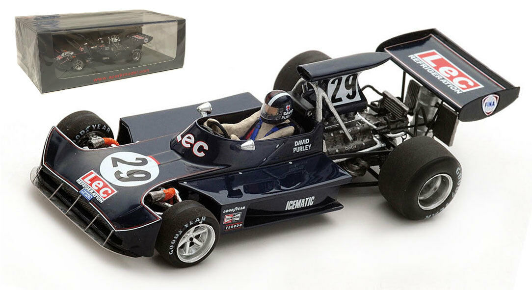 Spark S5368 March 731 'LEC' Italian GP 1973 - Dave Purley 1 43 Scale