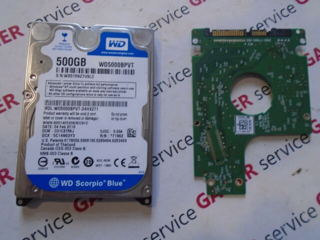 "PCB ONLY Western Digital WD5000BPVT-24HXZT1 500GB 2.5"" SATA HDD"