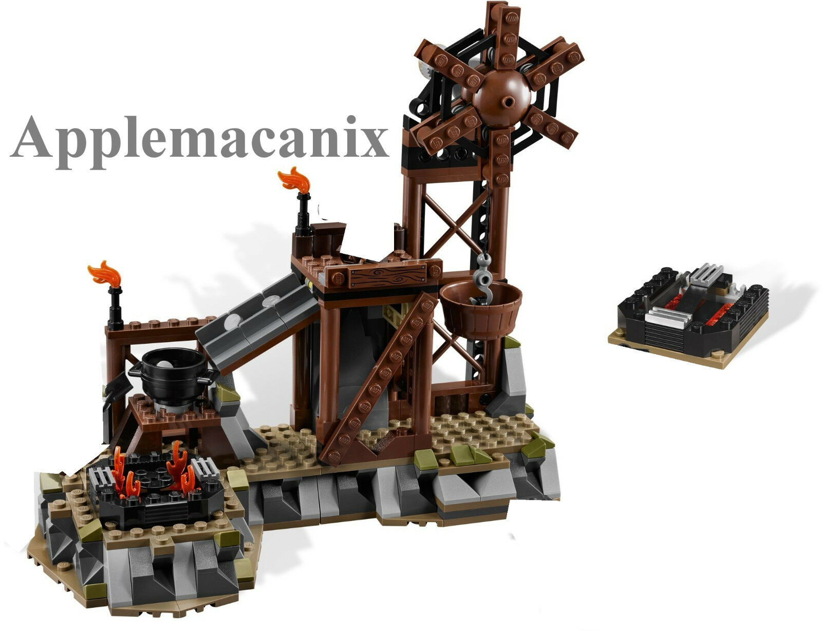 NEW LEGO Lord of the Rings LOTR 9476 The Orc Forge Set & manual - NO MINIFIGURES