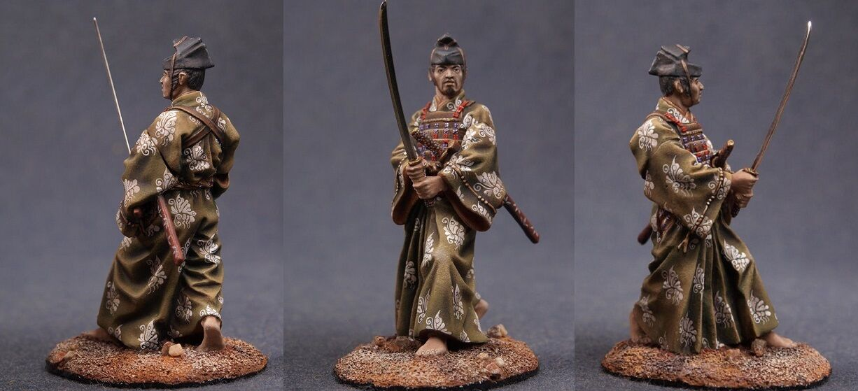 Tin toy soldiers ELITE painted 54 mm  Samurai with sword