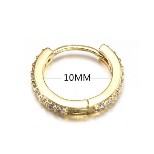 6//8//10mm Septum Clicker Nose Ear Ring Hoop Studs Piercing Helix Tragus Opal Hot!