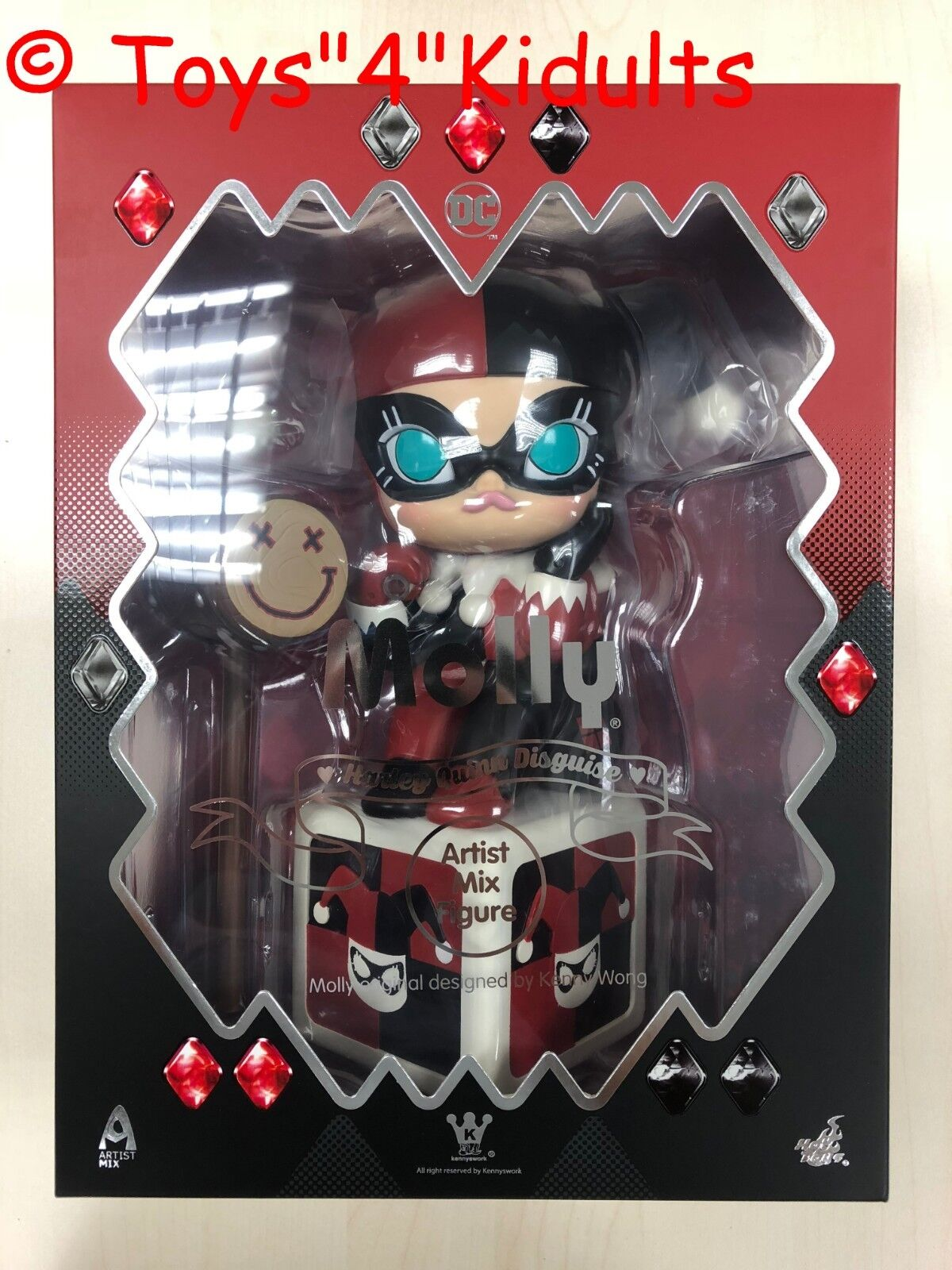 Hot Toys Kennyswork Kenny Wong AMC 25 Molly  Harley Quinn Disguise  Figure NEW