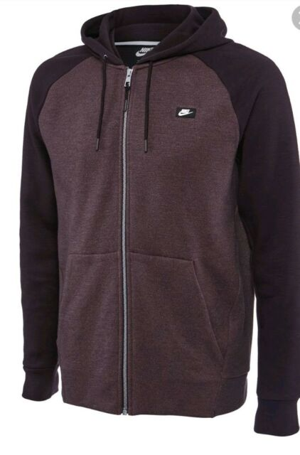 Herren Hoodie Full Zip Sportswear Optic Fleece Top 928475 634 Größe Large