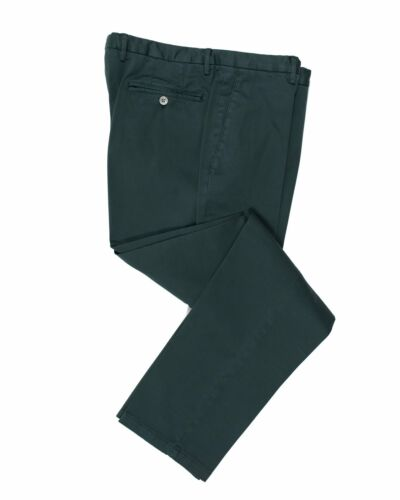 BOGLIOLI Deep Teal Slim-Fit Stretch Cotton Pants ~ Made in Italy