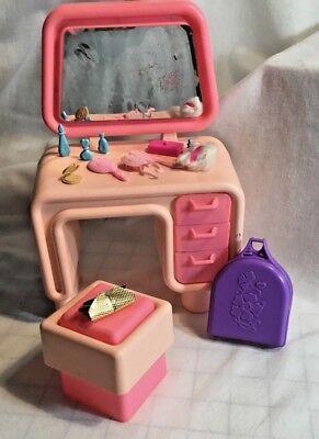 Accessories Seat Vanity w amp; Dream Mattel Furniture Barbie Original Collection zXqO0w