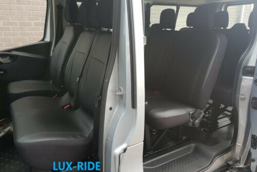VAUXHALL VIVARO MINIBUS 9 SEATS 2017 2018 2019 ECO LEATHER TAILORED SEAT COVERS