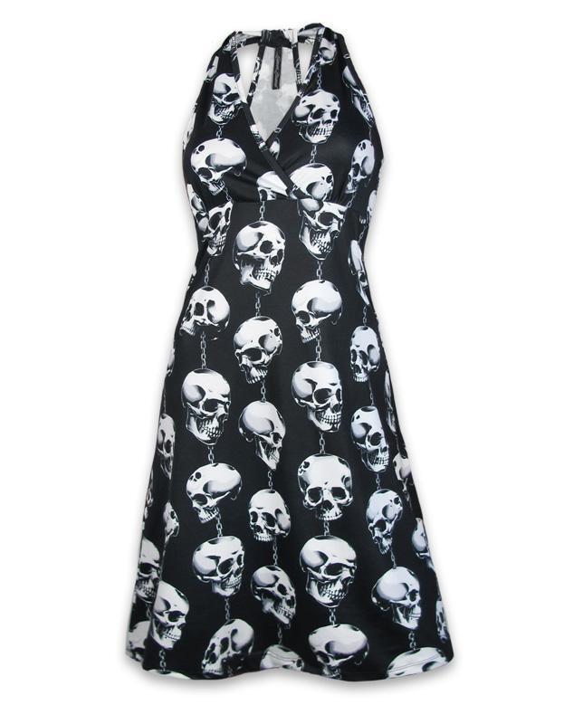 Vestido cuello halter lazo  stretchy 'Trinkets' by Liquor Brand
