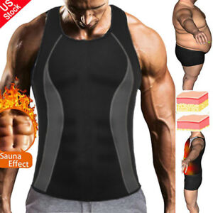 d26ee42c514 Men Waist Trainer Corset Vest for Weight Loss Top Sauna Hot Neoprene ...