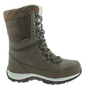 6c2fa29d90b Details about LADIES HI-TEC RIVA LIGHTWEIGHT WATERPROOF BEIGE FAUX FUR  LINED WINTER BOOTS