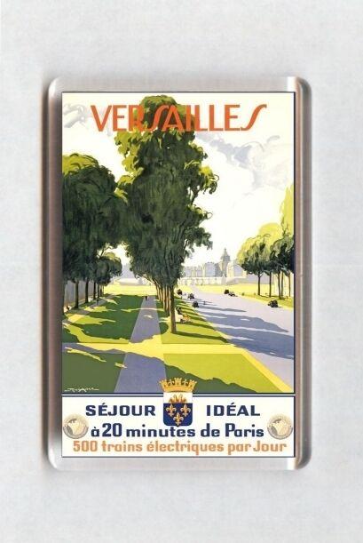 Vintage Travel Poster Fridge Magnet - Versailles