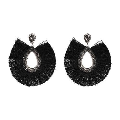 Fashion Boho Statement Tassel Cristal Pendants d/'oreilles pour Femme Mariage Fête