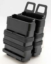Black Airsoft FastMag Molle Pouch M16/M4 Double Fast Mag Clip / 5.56mm Magazine