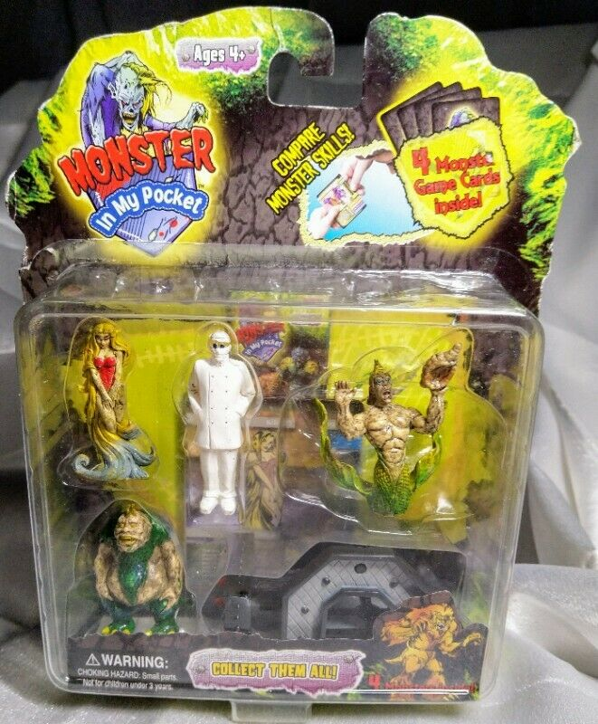 2007 - MONSTER IN MY POCKET 4 PACK FIGURE SERIES2 , ACTION ACC , 4 MONSTER CARDS! FREE COURIER