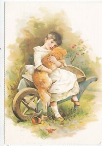 Little-Jenny-and-her-mistress-from-Dogs-Postcard-unused-VGC