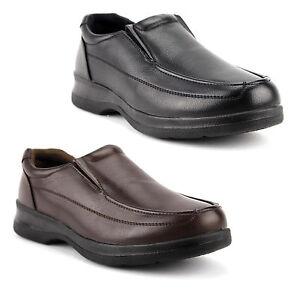 Details About Men S Black Brown Slip On Restaurant Work Shoes Non Slip Oil Resistant Wz14027