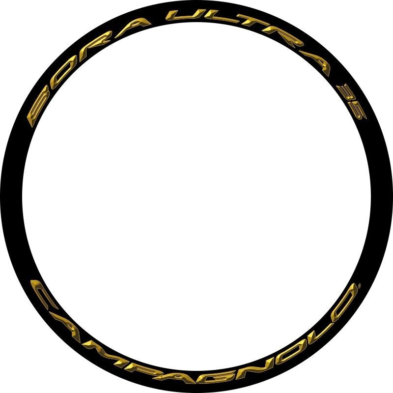CAMPAGNOLO BORA ULTRA 35 3D gold REPLACEMENT RIM DECAL SET FOR 2 RIMS