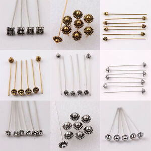 Lots-20Pcs-Silver-Gold-Plated-Metal-Head-Crown-Ball-Pins-For-Craft-Finding-50mm