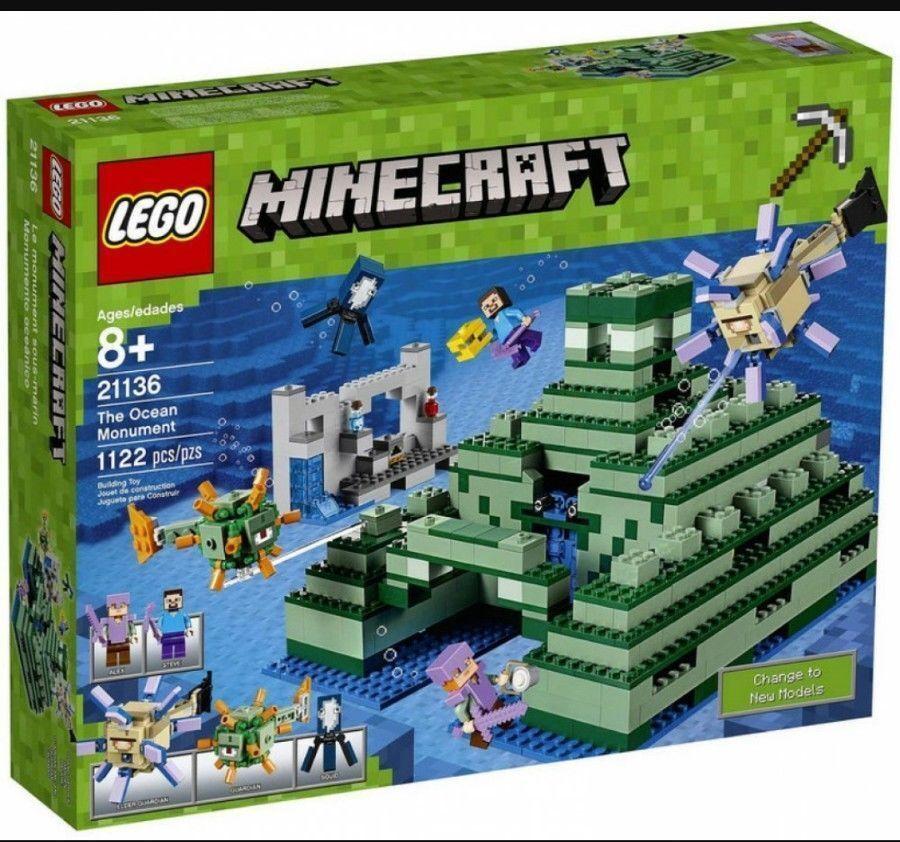 NEW Lego 21136 Minecraft THE Ocean Monument 1122 pcs
