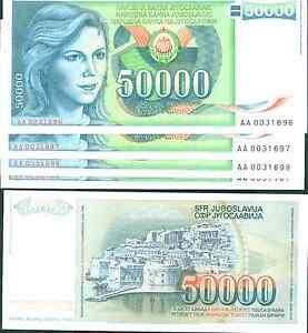 Yugoslavia BUNDLE LOT 100 Notes 5 MILLION DINARA 1993 P-121 AU-UNC