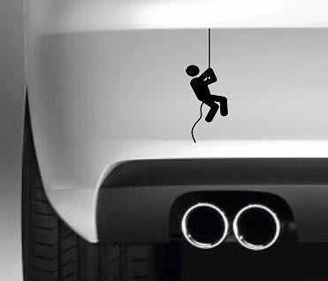 Exit man / toilet absail CAR BIKE BUMPER STICKER FUNNY DRIFT JDM DECAL VINYL VAN