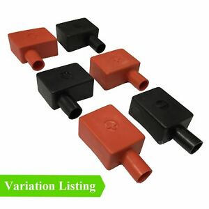 Battery Terminal Covers >> Details About Battery Terminal Covers Positive Red Negative Black Flag Cable Boot Insulation