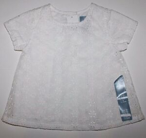 eb509fad0195 baby Gap NWT Girl s Ivory Eyelet Float Top Blouse w  Lining