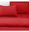 """Luxe Percale Plain Dye Linge De Lit Double Drap Housse Drap plat rouge blanc 54/""""x76/"""""""