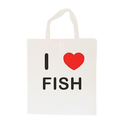 Bello I Love Fish-borsa In Cotone | Taglia Scelta Tote Shopper, O Sling-mostra Il Titolo Originale