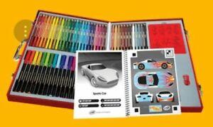 Crayola Virtual Design Pro Cars Collection App Enabled Stencils Markers Pencils Ebay