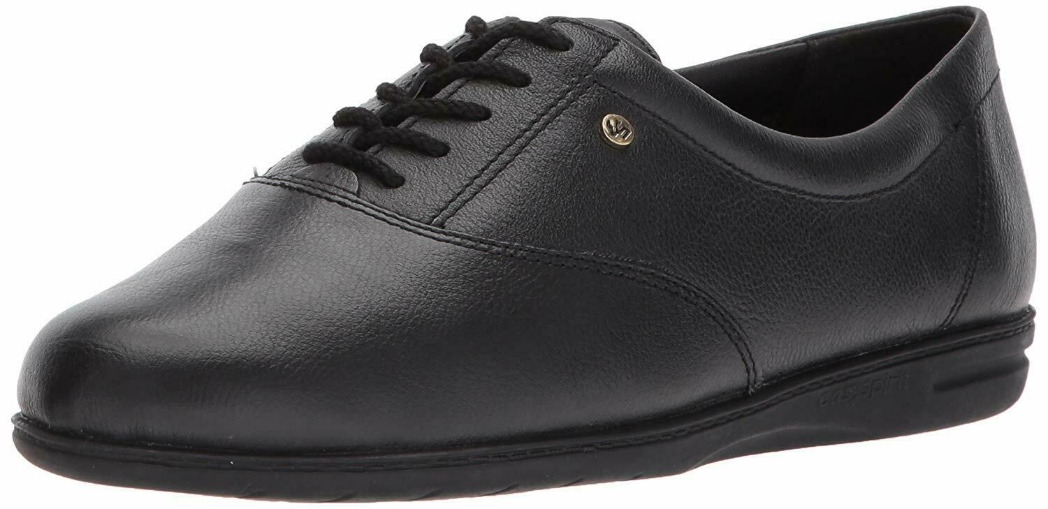 Easy Spirit Womens Motion Leather Closed Toe Oxfords, Black, Size 10.5 DsiS