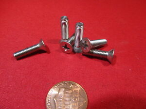 #10-32 Threads Pack of 25 Flat Head Plain Finish Phillips Drive 3//4 Length 316 Stainless Steel Machine Screw