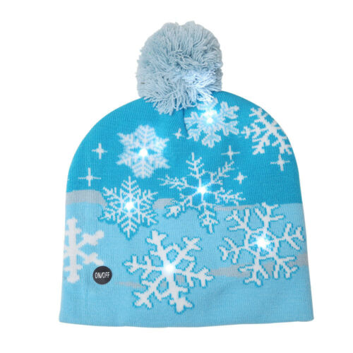 LED Beanie Light Up Hat Snowflake Tree Hat Knitted Led Cap For Kids Adult Party