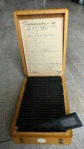 Rare-Verascope-F-40-Stereoscope-25-Views-Couleur-Hunting-IN-Hounds-Congress-Of